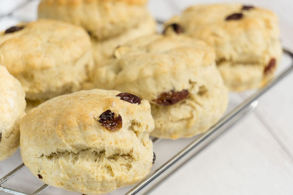 Quick Scone Recipe - Scones on a cooling rack