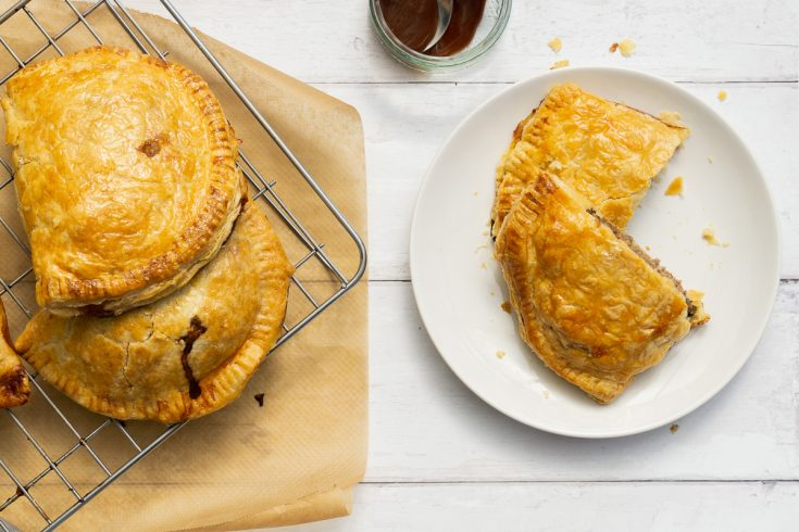 Forfar Bridies - Scottish Meat Pies on a plate