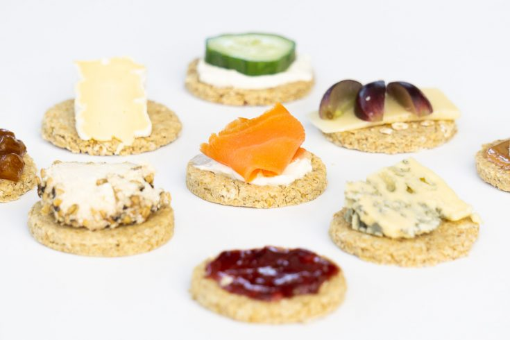 oatcakes with toppings