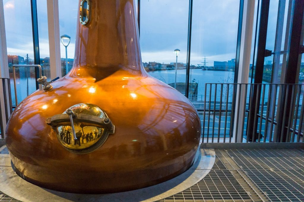 Whisky Distillery in Glasgow by the River Clyde