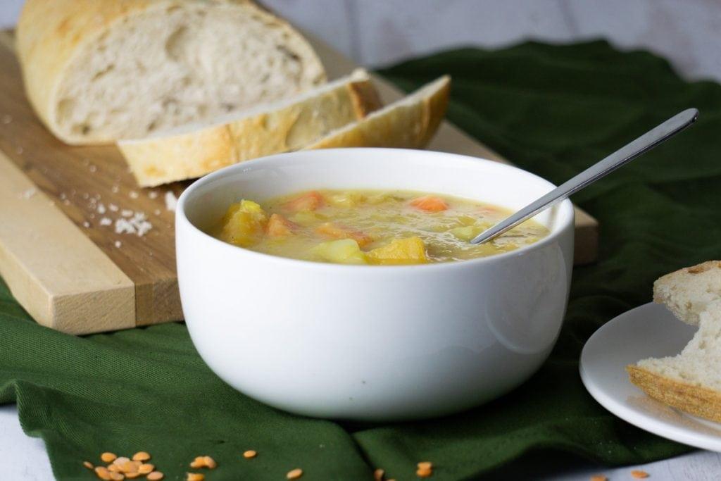 Scottish Lentil Soup Recipe in a bowl