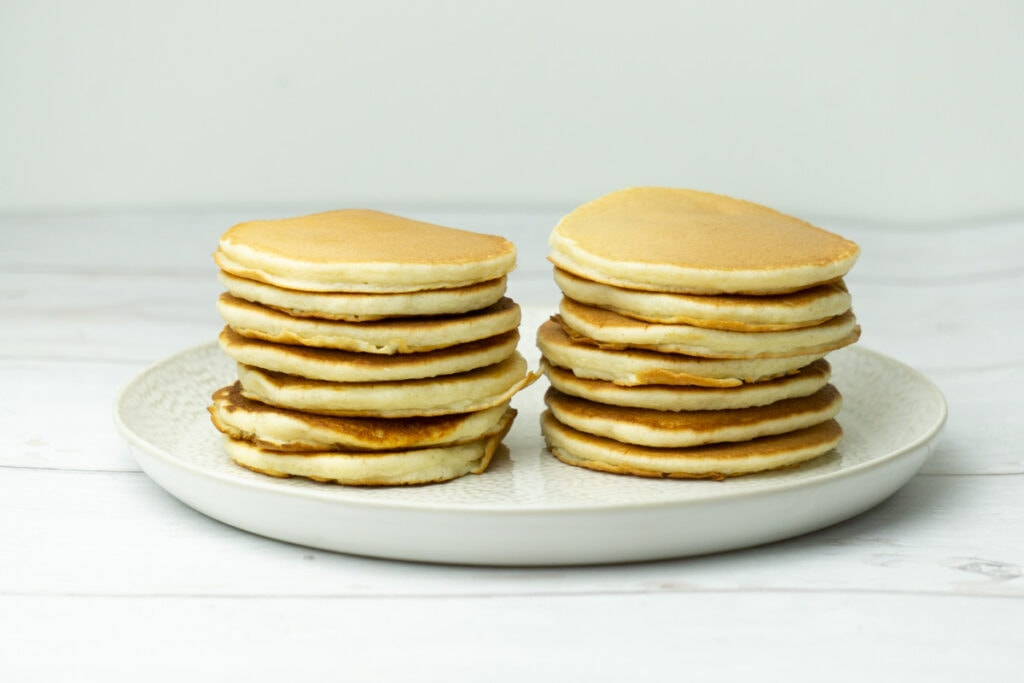 Scottish Pancakes Recipe in a Stack