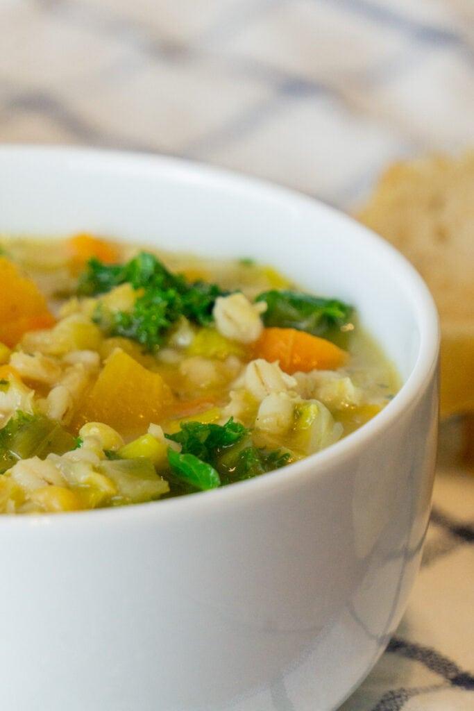 Vegetarian Scotch Broth in a bowl