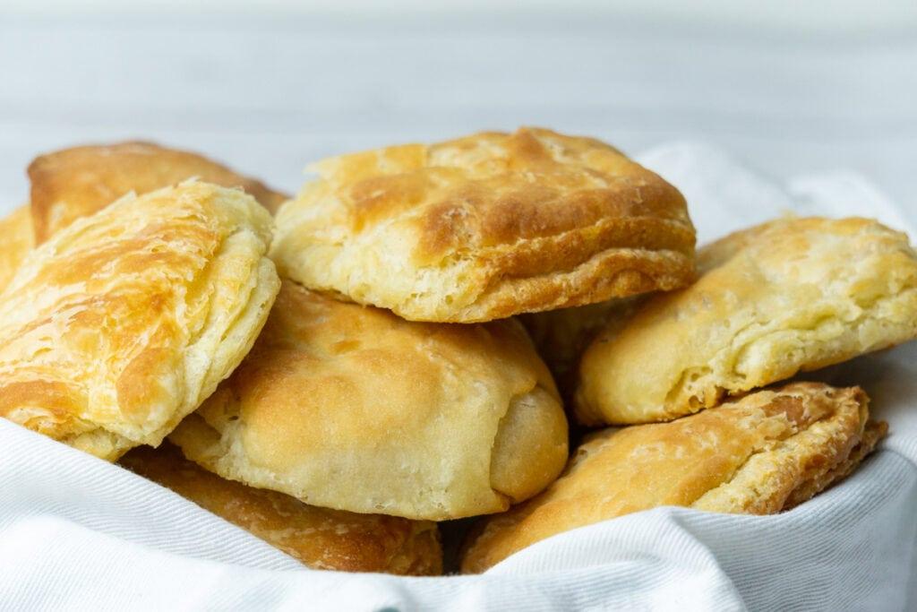 Aberdeen Butteries Recipe - Butteries in a basket